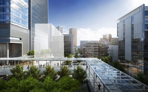 thumbnail image of CG rendering of the completed access route to/from Tamachi Station