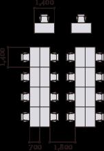 Corridor Width (between Desks) U0026 Desk Scale (mm). General Office Area
