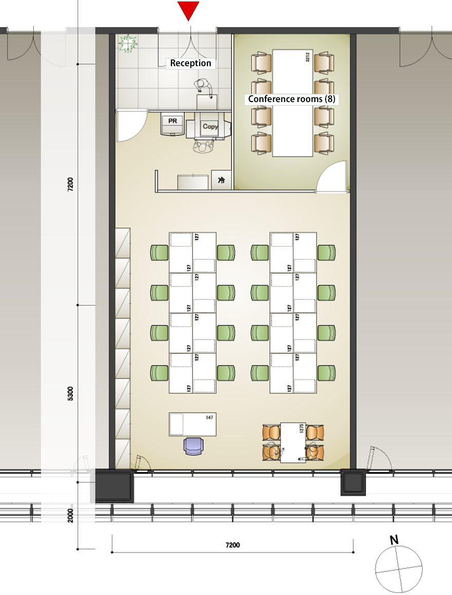 Office layout sample.